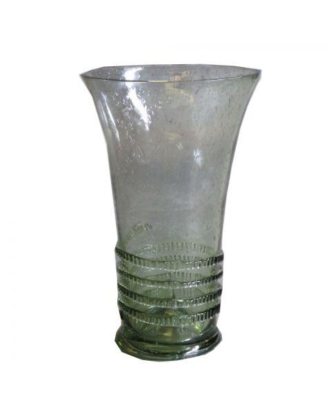 Glazen vaas groen 24 cm