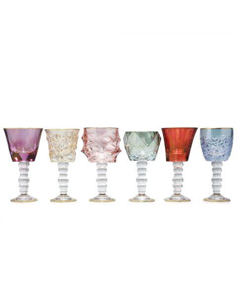 Set van 6 wijnglazen large Dolce Vita