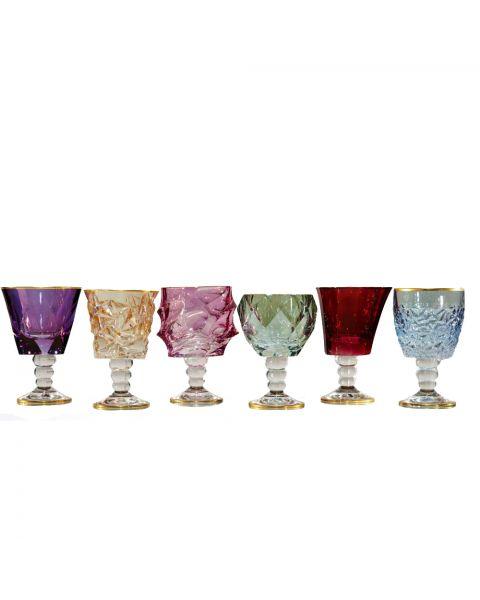 Set van 6 wijnglazen Dolce Vita