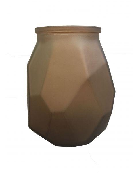 Vase Edge glas mat Caramel