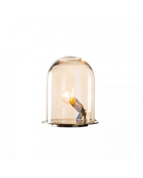 Glow in a dome lamp golden smoke