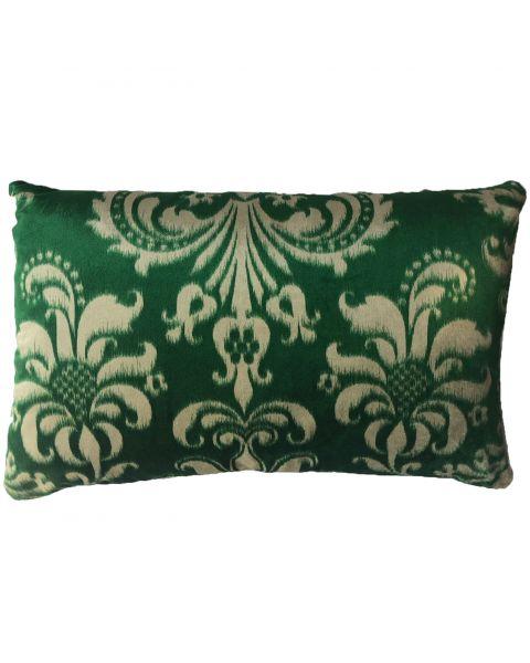 Kussen A&E Originals groen met luxe bloemenprint