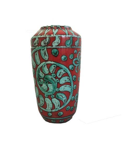 Grote rood met blauwe vaas