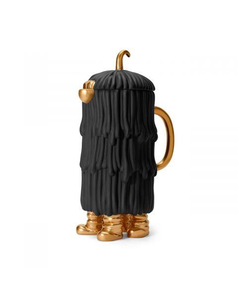 L'Objet Haas Djuna Coffee/Tea Pot White + Black