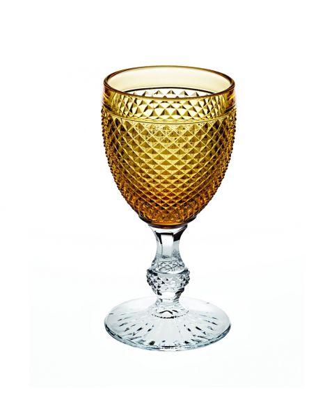 Bicos bicolor handmade glass amber - set van 2