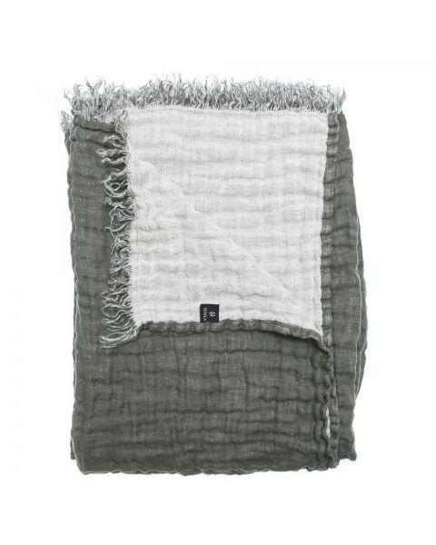 Hannelin plaid charcoal / white