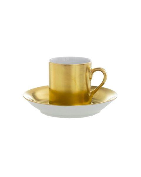 Espressokop en -schotel Gold