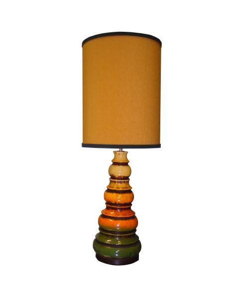 Tafellamp vintage Ochre Stripe