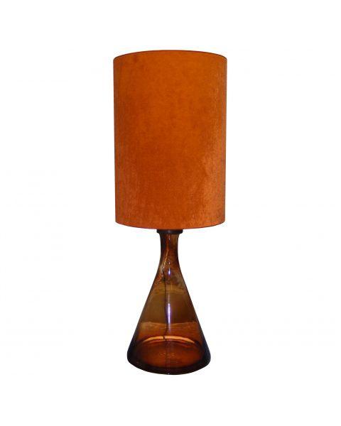 Tafellamp vintage Orange Glass