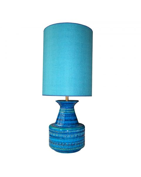 Tafellamp vintage Turquoise Linen
