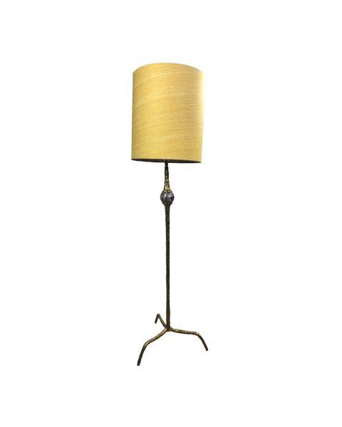 Lamp amathist shiny brass