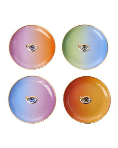 L'objet Lito-Eye set of 4 Cocktail Plates