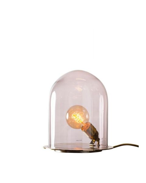 Glow in a dome lamp obsidian