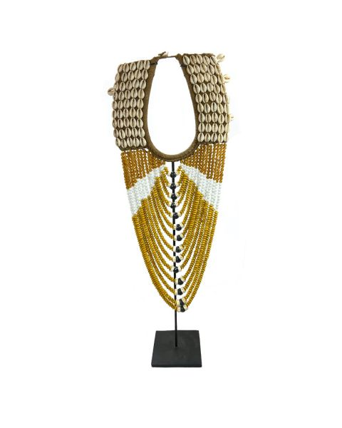 Necklace ocher on Stand