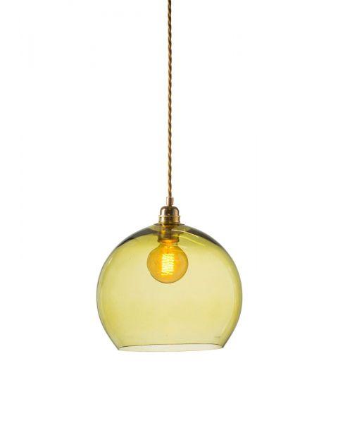 Bollamp glas olive