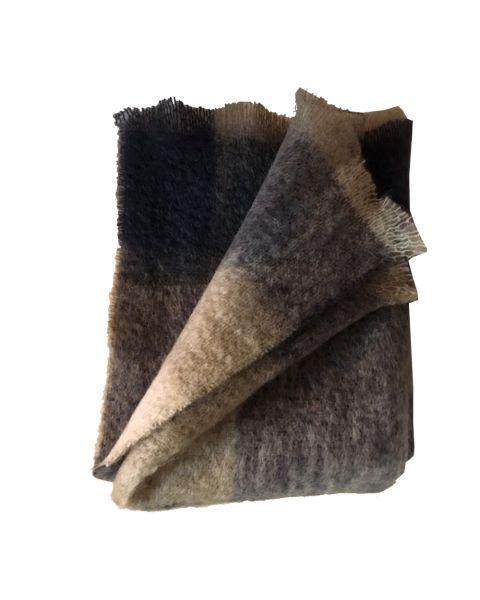 Plaid geruit wol naturel
