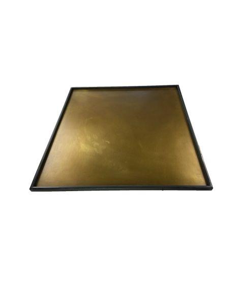 Tray Astrid brass 50x50 cm