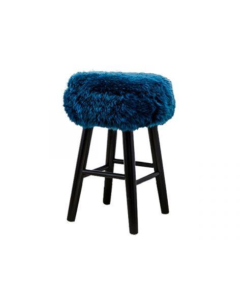 Sheepskin stool petrol