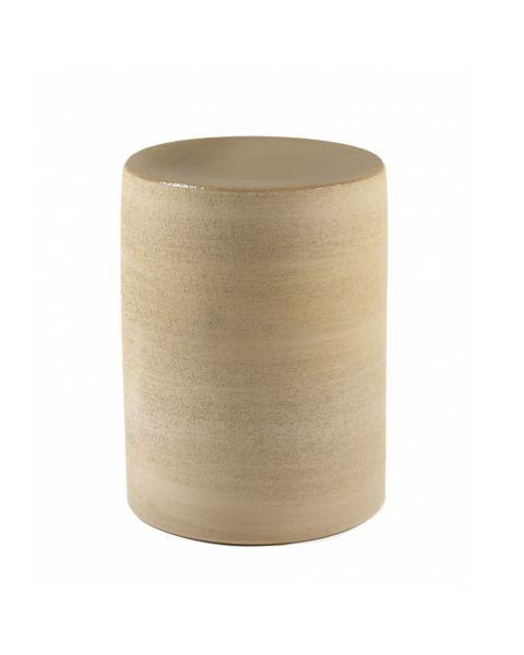 Pawn bijzettafel beige cilinder