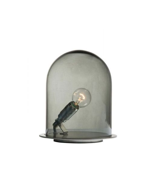 Glow in a dome lamp smokey grey