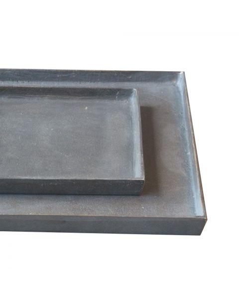 Tray aluminium schaal 40 x 40 cm brons