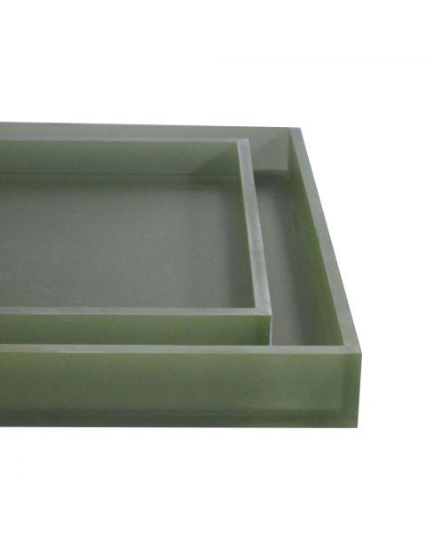 Tray Acryl 35 x 35 x 4 cm olive