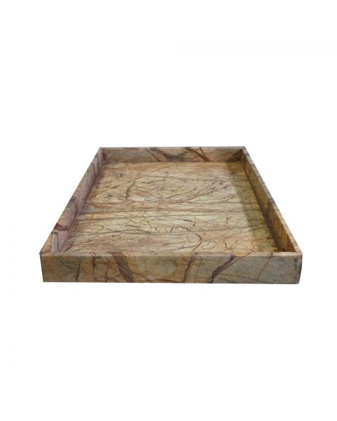 Tray marmer 40x60x5 cm brown