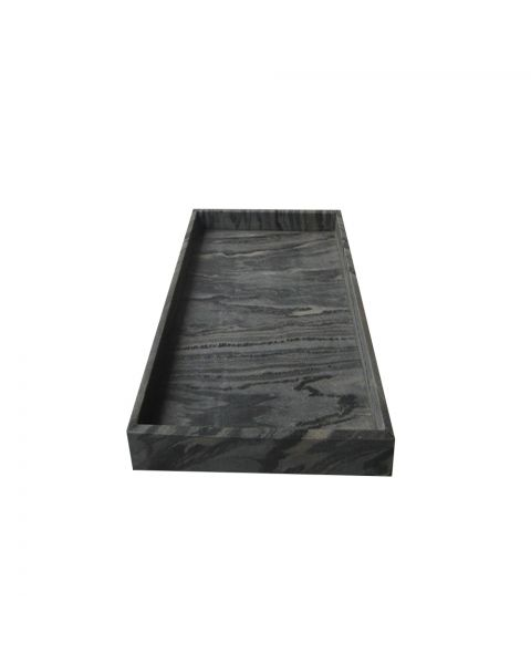 Tray marble 15x30x3 cm midnight black