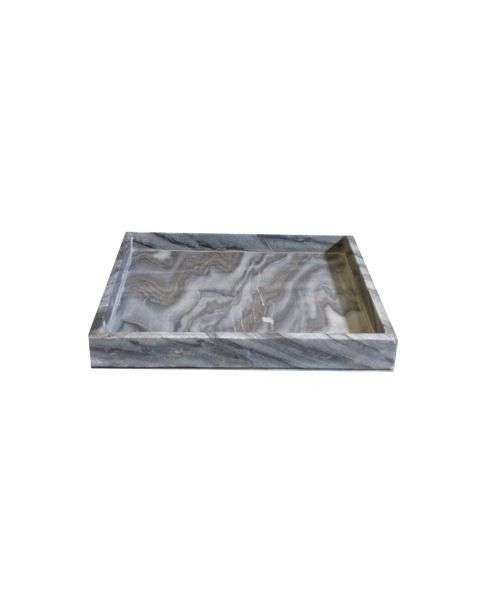 Tray marble  30x30x3 cm midnight black