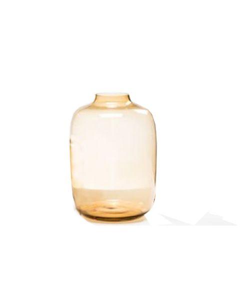 Vaas glas amber medium