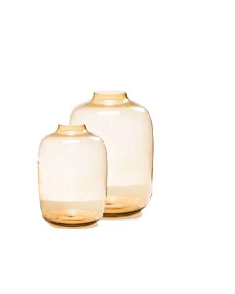 Vaas glas amber small