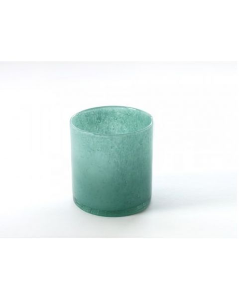 Vaas/ windlicht small turquoise