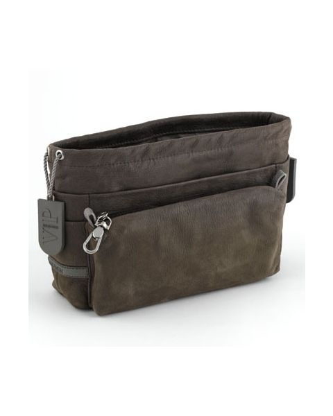 Bag in bag rundleer taupe
