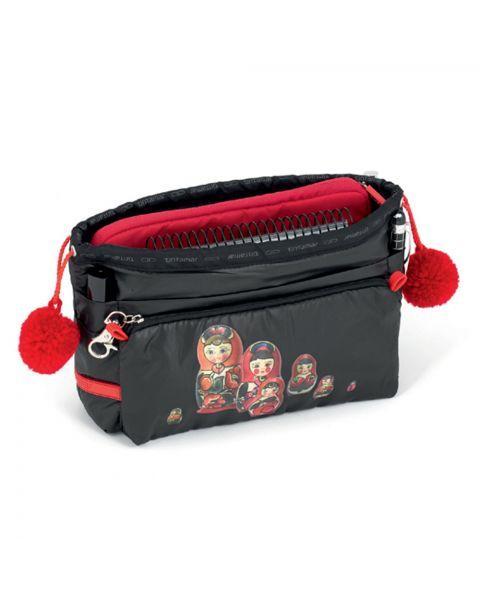 Bag in bag babushka black