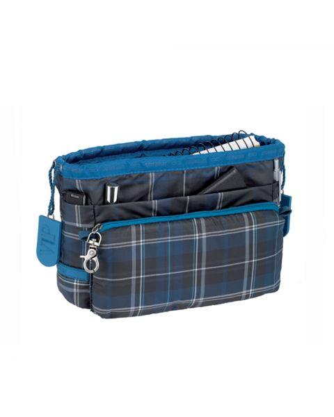 Bag in bag tartan blue