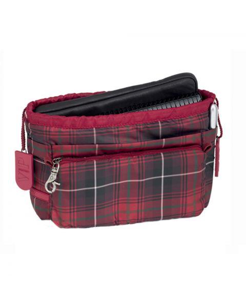 Bag in bag tartan rouge