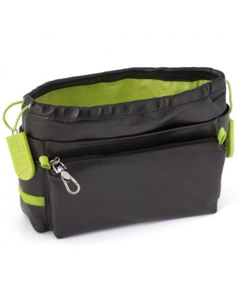 Bag in bag lamsleer black/anis
