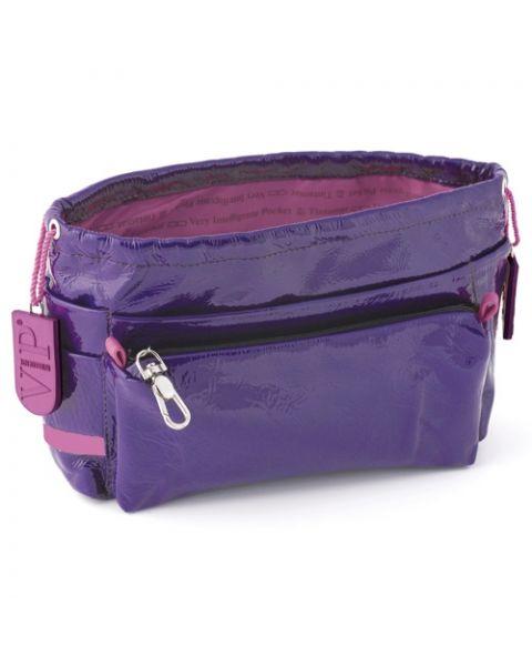 Bag in bag rundleer violet