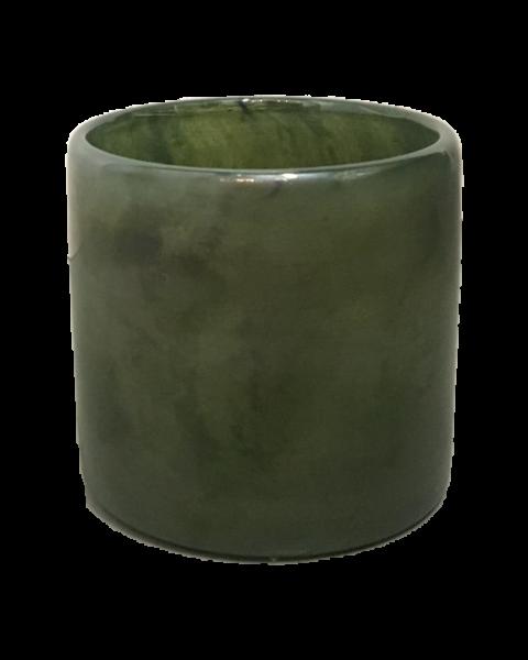 Votive green glass