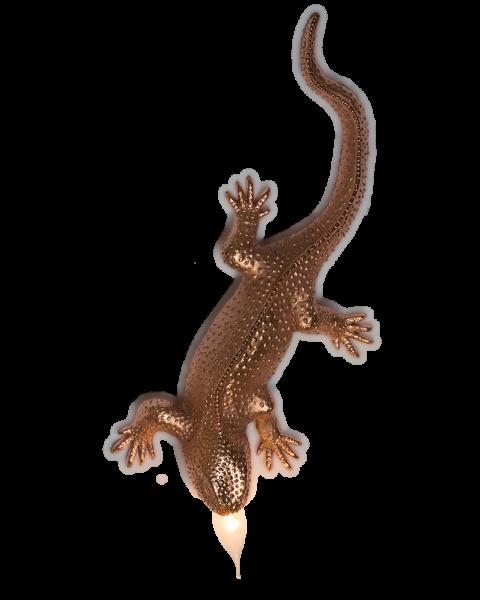 Wandlamp gekko copper