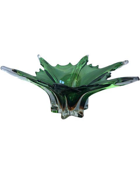 Groene vintage schulpen schaal